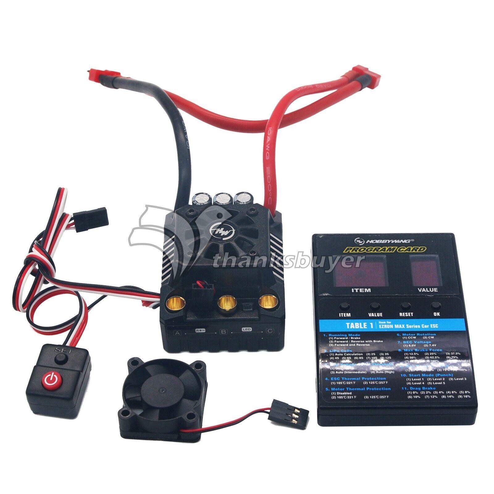 Hobbywing Ezrun-MAX8-V3 T-Plug sin escobillas Impermeable ESC  programa tarjeta F/RC Coche