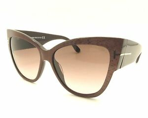 90680af5bb0 TOM FORD TF 371 Anoushka 50F Brown Gradient New Authentic Sunglasses ...