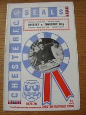 30/08/1978 Chester City v Coventry City [Football League Cup] (Item has no appar