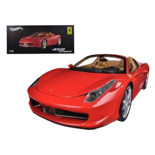 hot wheels ferrari 458 italia spider diecast model car. Black Bedroom Furniture Sets. Home Design Ideas