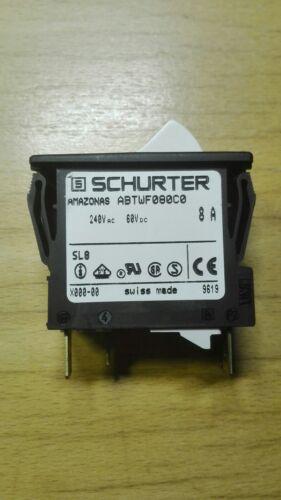 Schurter ABTWF080C0 Geräteschutzschalter Motorschutzschalter 240V 8A 60V DC
