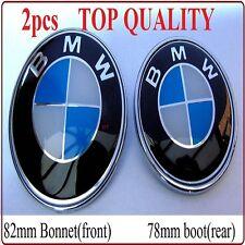 2 X Badge Emblem Logo Boot Bonnet Trunk Hood For BMW E30 E36 E39 E46 E60 E38 X5