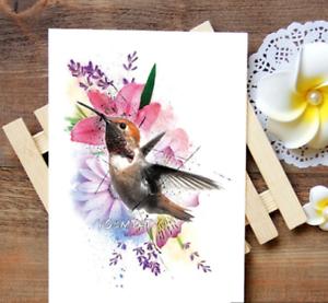 Colibri Temporary Tattoo Stickers Body Art Waterproof Fake Hummingbird