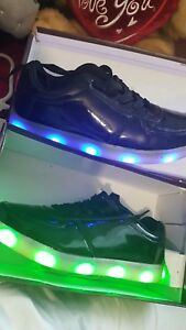 Details About Boys Girls Led Light Up Lace Up Luminous Sneakers Kids Children Casual Shoes