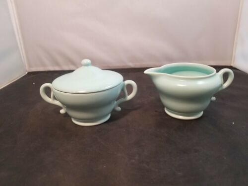 FRANCISCAN China EL PATIO Turquoise pattern Creamer and sugar bowl
