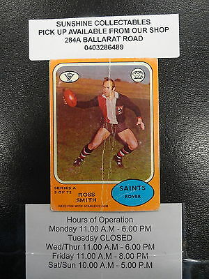 1973 A Scanlens Card No. 5/72 Ross Smith St Kilda Fair