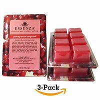 Essenza Scented Wax Warmer Cube Melts 7.5 Oz | Pomegranate Bergamot | 3-pack | 8