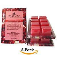 Essenza Scented Wax Warmer Cube Melts 7.5 Oz   Pomegranate Bergamot   3-pack   8