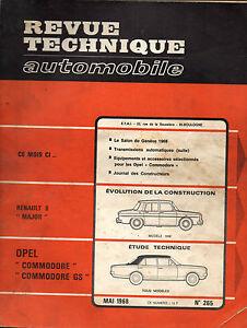 RTA-revue-technique-automobile-n-265-OPEL-COMMODORE-1968