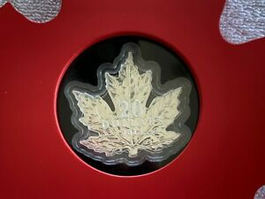 2015-Canada-1-oz-Silver-20-Proof-Maple-Leaf-Shaped-Coin-with-Display-Case