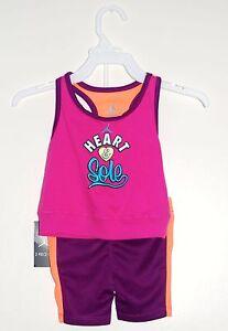 4544e68d594c NWT Nike Jordan Jumpman Infant Girls Pink   Purple 2pc Tank Top ...
