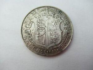 High Grade 1913 Half Crown Silver