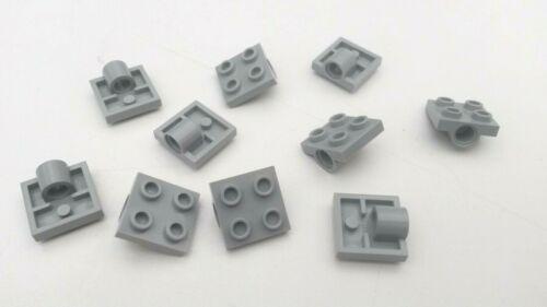 used 10x Light Blue Grey Lego Technic 2 x 2 Single Bearing Plate B252