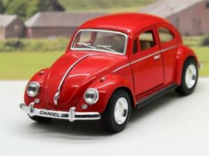 PERSONALISED Plate Gift VW Beetle Boys Toy Model Car Birthday Present 4 Colours
