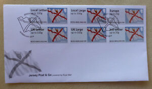 2014-JERSEY-POST-n-GO-SET-OF-6-STAMPS-FIRST-DAY-COVER