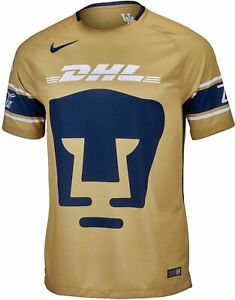 big sale 330ee 7db3e Details about Nike Pumas UNAM 3rd Third Gala Authentic Soccer Jersey 17/18  Season 847310 711