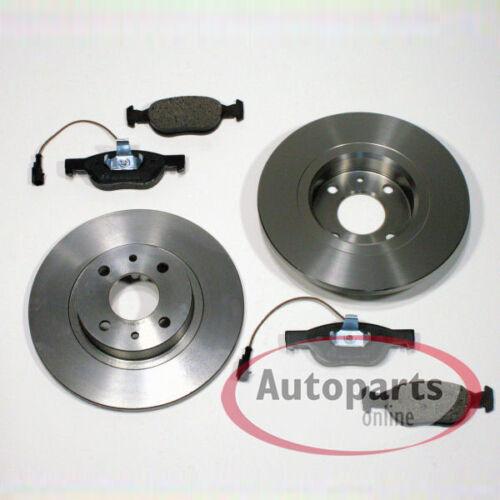 Bremsscheiben unbelüftet Bremsen Bremsbeläge Warnkabel für vorne Fiat Brava