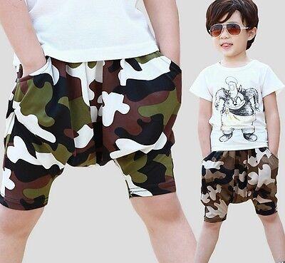2018 Summer New Boys Kids Shorts Children Micro Fiber Army Camouflage Pants