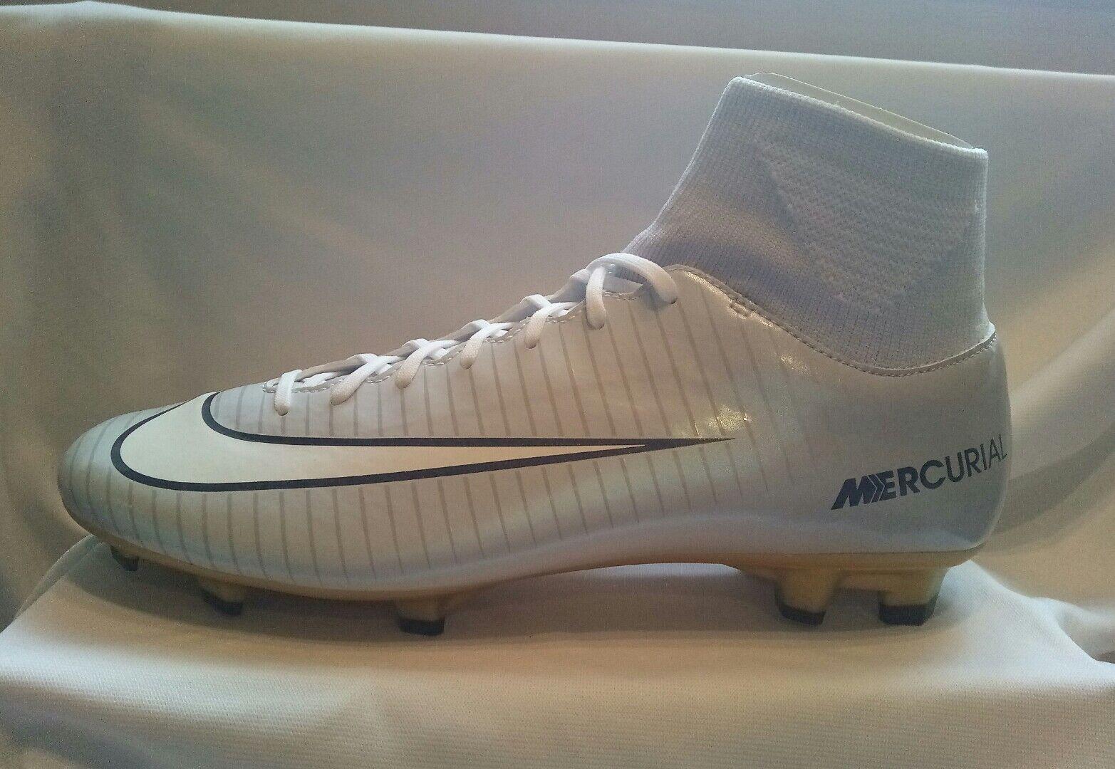 Nike Mercurial Victory VI CR7 Calcetín Fútbol DF FG Bota gris oro Reino Unido 9.5