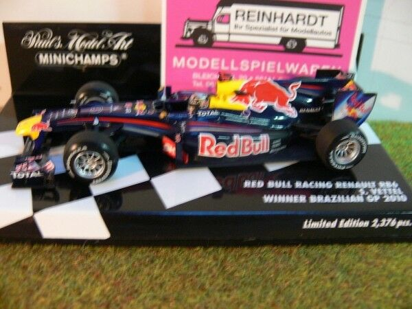 1 43 Minichamps Renault RB6 Red Bull Racing S. Vettel Winner Brazilian GP 2010 .