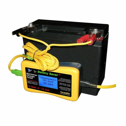 Save A Battery 1200-LCD 12W Pulse Battery Maintainer//Charger//Tester