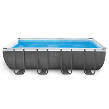 "Intex 18' x 9' x 52"" Ultra Frame Rectangular Above Ground Pool + Pump 
