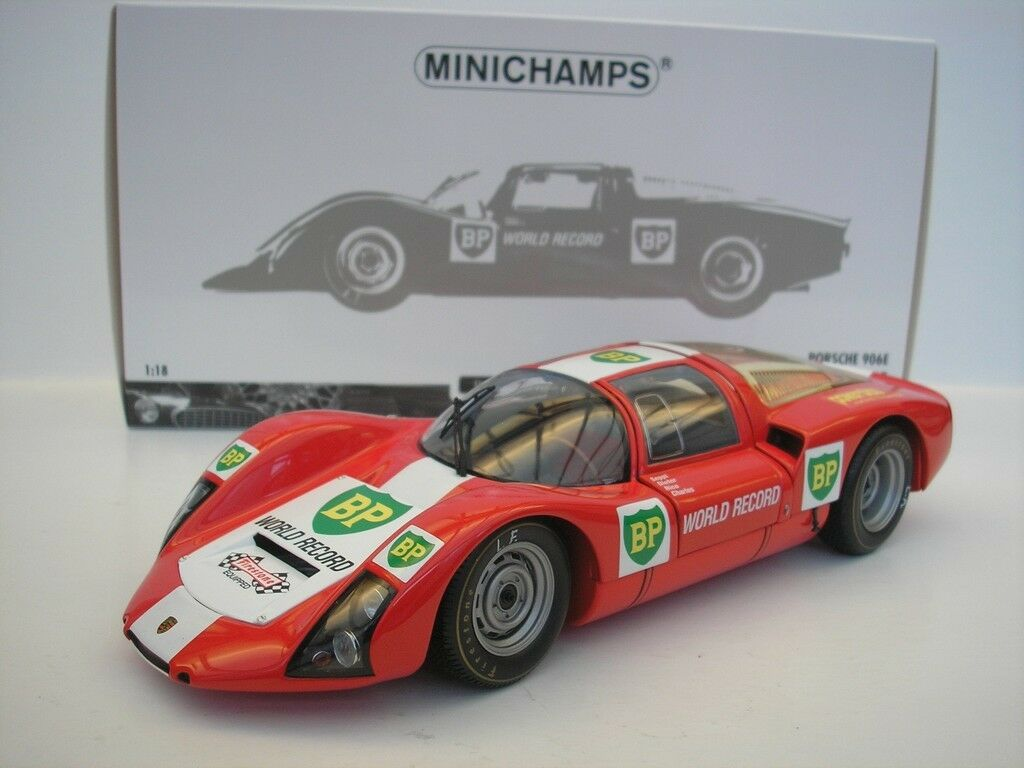 Porsche 906E 906 E BP World Record Runs Monza 1967 1 18 Minichamps 100676100 NEW