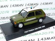 voiture POLICE 1/43 CARABINIERI : FIAT PANDA 1000 Fire 1986