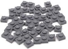 LEGO 20 x Basic Platte 1x4 dunkelgrau 3710 NEUWARE