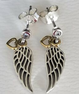 pandora angel earrings