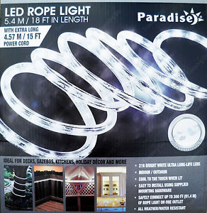 Paradise bright white led rope light indooroutdoor 54m extendable image is loading paradise bright white led rope light indoor outdoor aloadofball Gallery