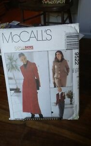 Oop-Mccalls-9522-misses-lined-princess-seam-jacket-shirt-pants-size-14-18-NEW