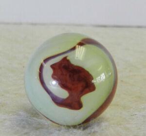 #12677m Vintage Akro Agate Lemonade Oxblood Marble .64 Inches *Mint*