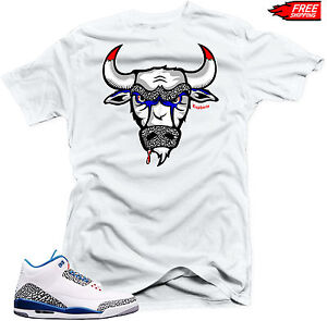 00f06e6315ebb5 Shirt to Match Air Jordan Retro 3 True Blue Sneakers
