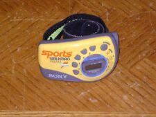 Yellow SONY Sport Walkman SRF-M78 Gatorade Logo AM/FM Tuner Armband Radio