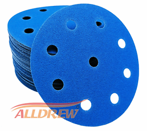 25, Grit 80 125mm Wet and Dry Sanding Discs 5in Sandpaper 9 Hole Pads Compatible with FESTOOL Sanders
