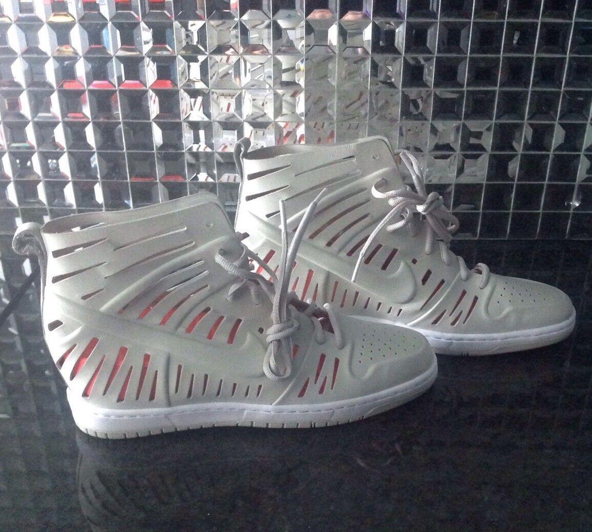 New 11 Nike Joli Sky Hi High Wedge Dunk 2.0 Off White Bone Sneakers Sandals - 11