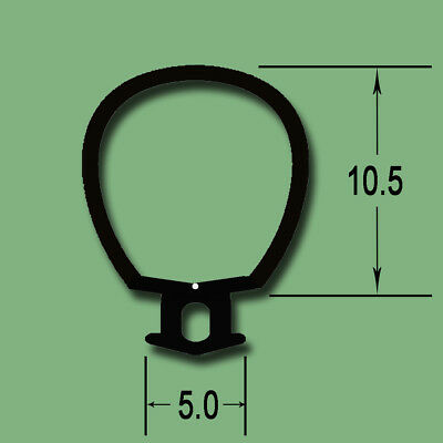 LARGEST BLACK UPVC DRAUGHT EXCLUDER RUBBER GASKET WINDOW DOOR SEAL R10550