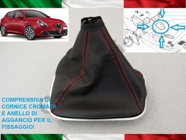 SHIFT BOOT ALFA ROMEO MITO from 2008 ORIGINAL LEATHER WITH HOOKS GEAR BOOT
