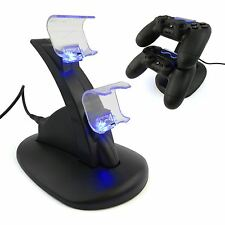 Dual Controller Charging Stand Dock Fast Charger Mount LED for Sony PS4 Pro Slim