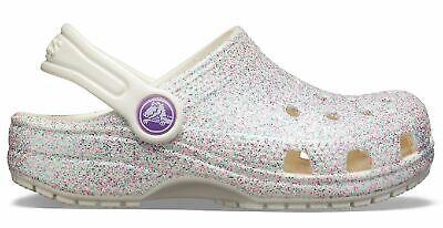 Crocs Kinder-mädchen-sport-freizeit-clog Schuhe Kids' Classic Glitter Clog Weiss Spezieller Sommer Sale