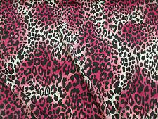 Pink Animal Print Crepe De Chine Printed Dress Fabric. Price Per Metre!