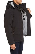$800 Vince Camuto MEN BLACK DOWN BOMBER QUILTED JACKET Puffer WINTER COAT SIZE M