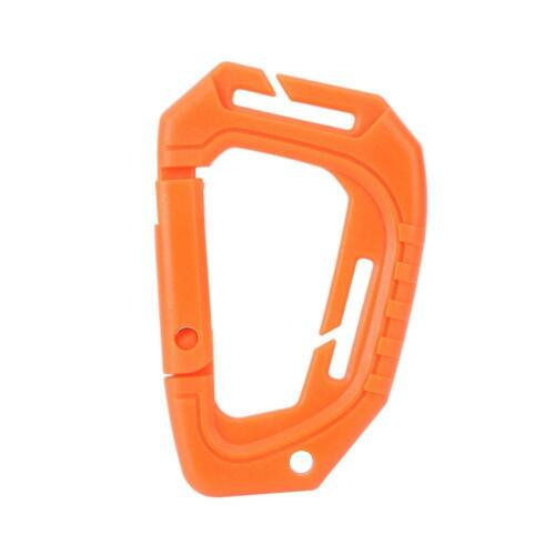 Plastic Snap Hook Carabiner D-Ring Key Chain Clip Keychain Outdoor Hiking Camp
