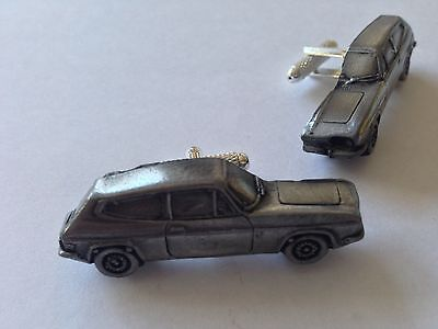 Saab Sonett 3 3D classic car Vehicle pewter effect cufflinks ref221