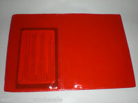 Red Bookshelf Tag Holders - Great For Hunting Fishing Licenses Lot Of 50