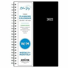 Blue Sky 2022 Weekly Amp Monthly Planner 5 X 8 Flexible Cover Wirebound Enter