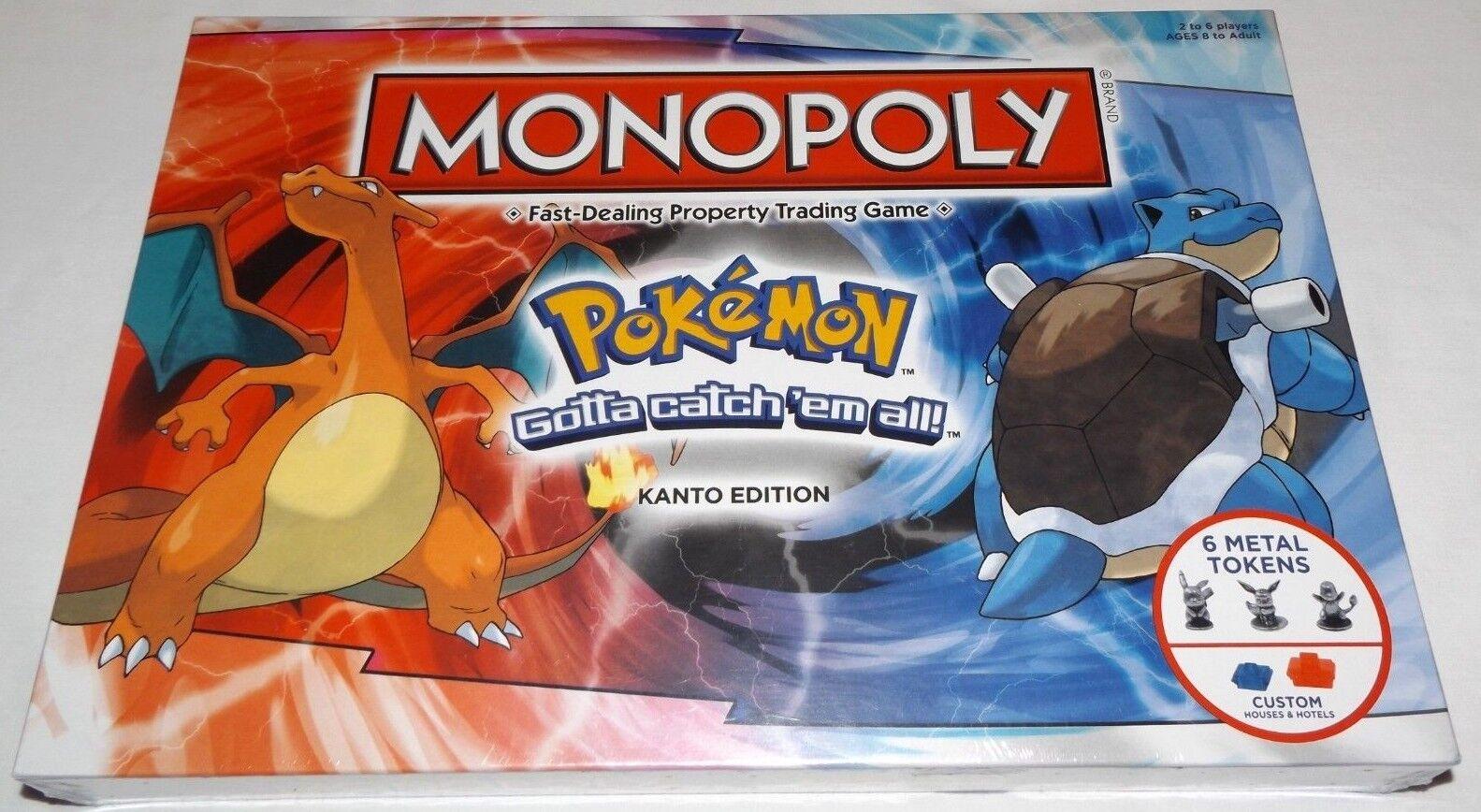 Monopoly  Pokemon Kanto Edition Board Game GOTTA CATCH 'EM ALL