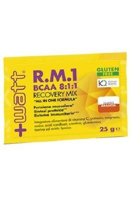 +watt R.m.1 Bcaa 8:1:1 Recovery Mix Box 30x25g Post Workout Recupero Energetico Moda Attraente