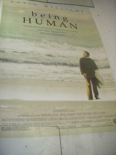 BEING HUMAN ROBIN WILLIAMS MOVIE POSTER 40X27 USED PO-88 ...